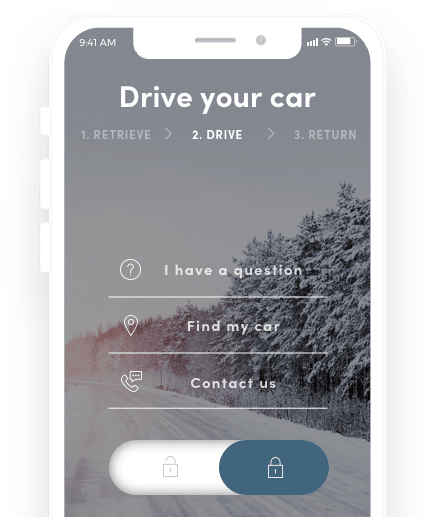 UFODRIVE 24/7 self-service car rental via the app