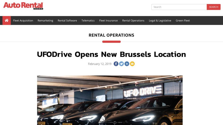 Autorentalnews.com - UFODRIVE opens New Brussels location
