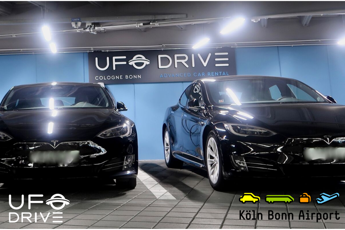 Rent a Tesla with UFODRIVE - Now available in Cologne Bonn Airport