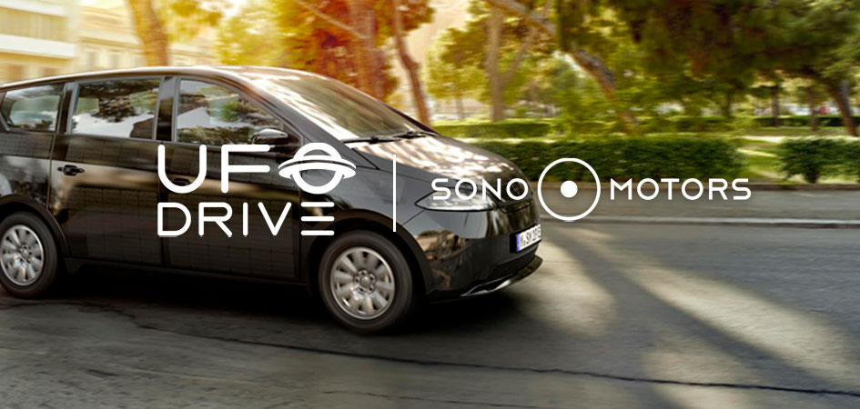UFODRIVE collaborates with solar mobility provider Sono Motors to incorporate solar car 'the Sion' into its fleet